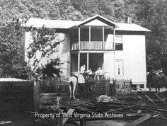 Hatfield and McCoy feud--Hatfield homestead circa 1900