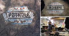 Chicago Artist Mends Potholes with Mosaics