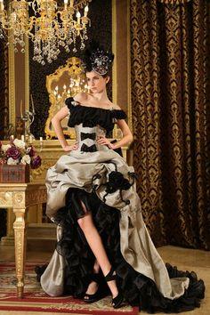Design idea for Becky's dress.    Off The Shoulder Crinkled Chiffon Hi Low Prom Dress H-153. $169.00, via Etsy.