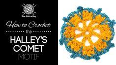 How to Crochet the Halley's Comet Motif