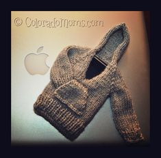 iphoodie -  #knit sweater for your iphone | pattern #crafts #knitting #holidays