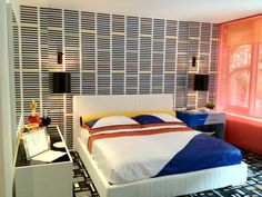 Master bedroom in the 2012 ELLE DECOR Modern Life Concept House. Space designed by Christopher Coleman.