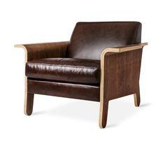 Lodge Chair Brown Leather #HPmkt Gus Modern