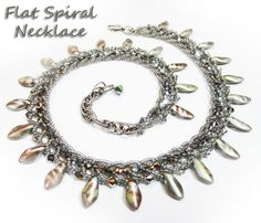 flat spiral necklace