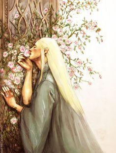 Sweet Roses of Mirkwood by ~kaetiegaard on deviantART hee hee. I can tell this is based off one of the famous Waterhouse paintings.