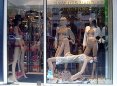 lingerie window displays | Window display and store front at O Caprices de Lili in Paris. Photo ...