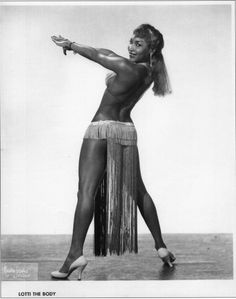 African American Burlesque Performer Lottie the Body (c.1960s)