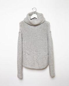 RAQUEL ALLEGRA  Cowl Neck Knit