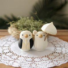 wedding cake topper love birds #wedding