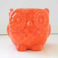 Ceramic owl planter  Would make a lovely sponge or candle holder too!    Made to order, please allow 7-10 days for your order to be made before