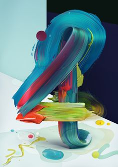 A Polish artist, Pawel Nolbert, mixed painting and typography in this series of art titled Atypical