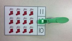 Christmas Count and Clip Cards (Sets to 12)  $ #ChristmasMath  #Stockings   #CountingandCardinality      #Christmas http://www.teacherspayteachers.com/Product/Christmas-Count-and-Clip-Cards-Sets-to-12-992362
