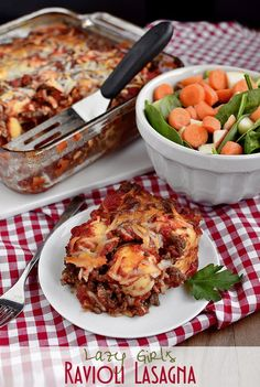 Lazy Girl's Ravioli Lasagna | iowagirleats.com