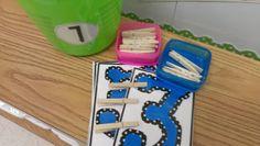 math center, number