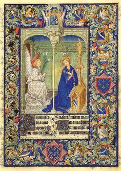 La Anunciacion-Belles Heures of Jean de France duc de Berry-Folio 30r- ©The Metropolitan Museum of Art