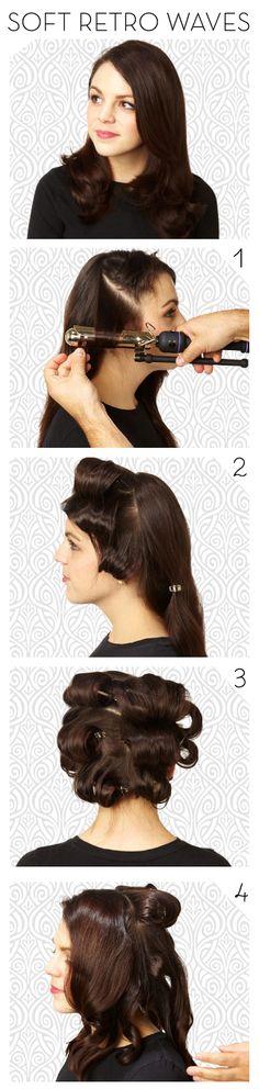 Hair How To: Retro Waves Popular Hair, Retro Waves, Hair Tutorials