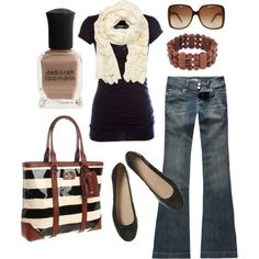 brown & black, created by htotheb.polyvore.com