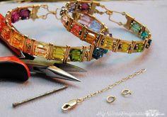safeti chain, safety, bead, wire wrap, bracelets, chains, jewelry ideas, wrap bracelet, jewelri
