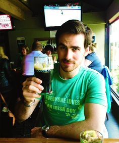Colin O'Donoghue you're killing me. That shirt is most accurate.
