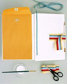 Embellish a Cookbook - Martha Stewart Crafts