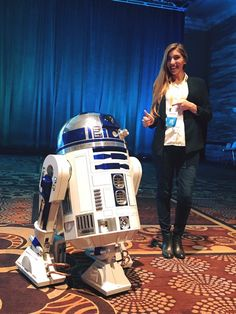 Melonie and R2D2 at