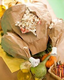 Paper-bag turkey craft tutorial.