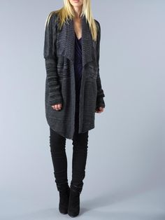 Comfy Open Gray Sweater.
