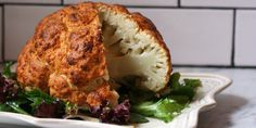 Roasted cauliflower? Been there, done that. But roasting a whole head of cauliflower? Now we've got your attention. veggi, roast cauliflow, side, food, cauliflower recipes, roasts, healthi, eat, yummi