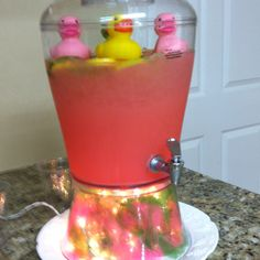 Pink lemonade punch for baby shower