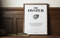 #nordicdesigncollective Poster –The Oyster - DRY Things - Formgivare
