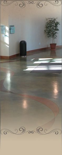finished concrete floor - inspiration for basement
