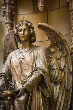 """""""Bronze Angel Statue Detail"""" (2013), By Dancasan Photography, Photograph - Digital Image. Hudson Valley, New York, United States."""