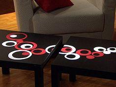 Decorar unas mesas básicas.
