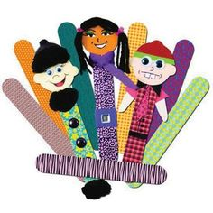 Fabric Craft Stick Puppets (would be good for reenacting storybooks)