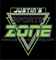 "Sports Club Logo by Party Favorites - We specialize in creating fabulous Mitzvah logos to ""brand"" your event."