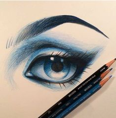 eyes drawings, color, blue, eye drawings