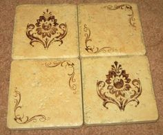 DIY Gifts - Stamped Coasters