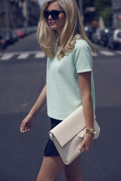 simple pastels and great hair