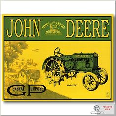 John Deere!  I love riding on our big green tractor!