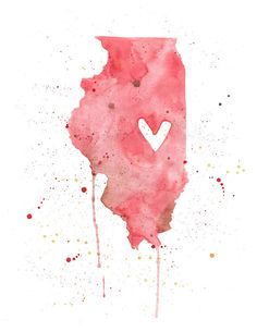 Illinois Love via Etsy.