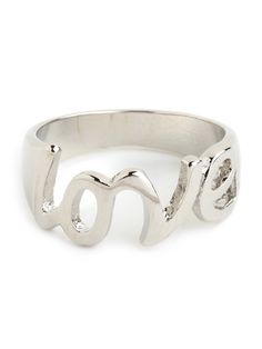 wear your heart on your finger with our Silver Love Ring.