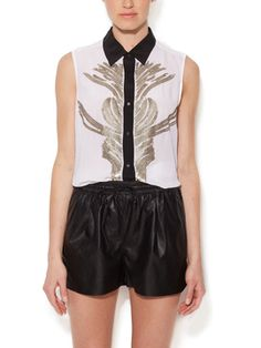 Circus Silk Sequin Embellished Shirt from Statement-Making Tops