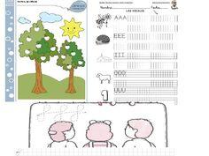 Fichas de actividades para niños de cinco años
