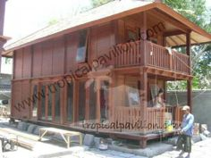 Indonesian prefabricated wooden house