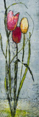 Encaustic Tulips