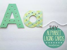 Lacing alphabet cards