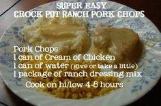 Crock Pot Ranch Pork Chops recipe #pork #chop #recipes
