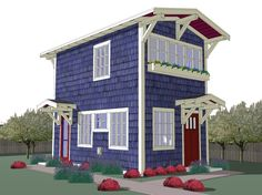 The Forest-Rose Cottage - Free Small House Plans - http://www.tinyhouseliving.com/the-forest-rose-cottage-free-small-house-plans/