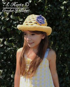 Crochet Sunshine Sun Hat Sizes 0 to Adult  by CrochetItBaby, $4.00