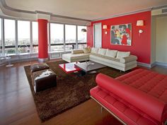 To Die For - Contemporary Living Room in Red